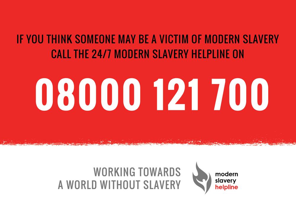 modern slavery helpline